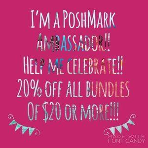 20% off bundles of $20 or more!!!